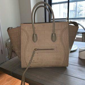 Celine croc embossed phantom bag